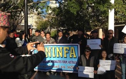 Protest against Bhim Rawal in Sydney