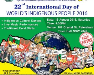 22nd International Day of World's Indigenous People 2016